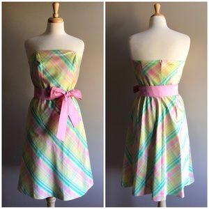 Lilly Pulitzer Pastel Plaid Silk Sienna Dress